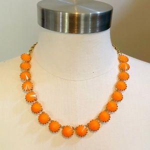 J. Crew orange rhinestone short necklace